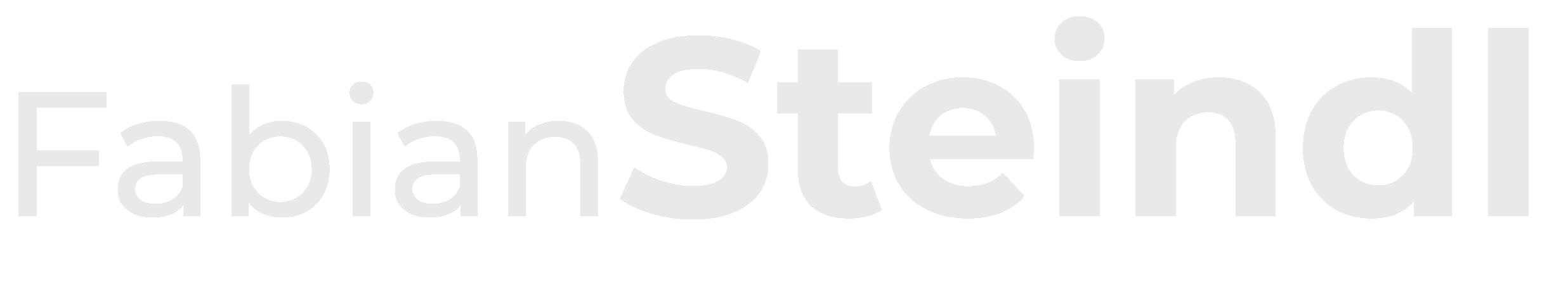 Logo - Schriftzug Fabian Steindl